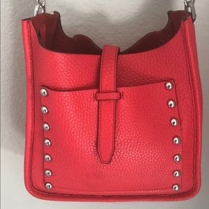 Rebecca Minkoff red leather crossbody bag